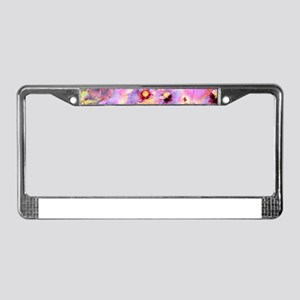Tropical Hibiscus -seamless pa License Plate Frame