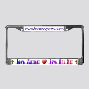 loveanyway license plate frame