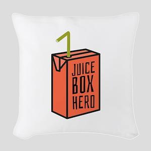 Juice Box Hero Woven Throw Pillow