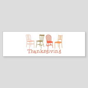 Thanksgiving Chairs Bumper Sticker