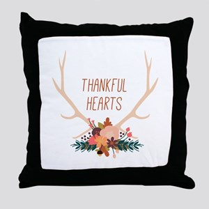 Thanksful Hearts Throw Pillow