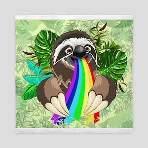 Sloth Spitting Rainbow Queen Duvet