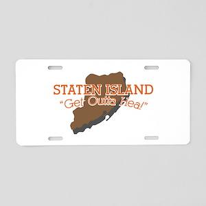 Get Outta Hea! Aluminum License Plate