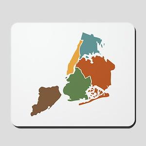 Five Boroughs New York Mousepad