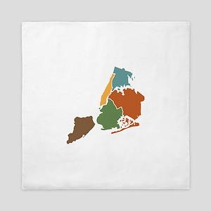 Five Boroughs New York Queen Duvet