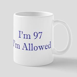 97 I'm Allowed 3 Dk Blue Mugs