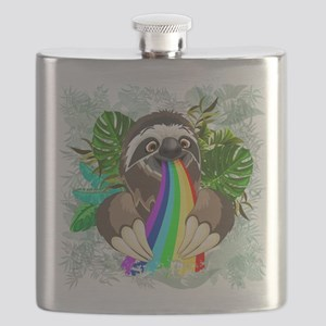 Sloth Spitting Rainbow Flask