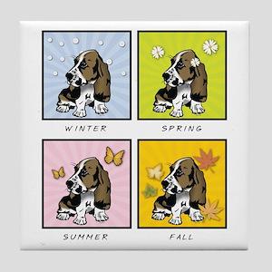 4 Seasons Basset Tile Coaster