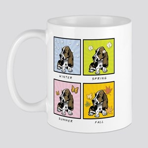 4 Seasons Basset Mug