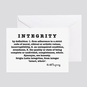 Definition of Integrity Greeting Card