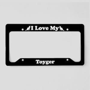 I Love My Toyger Cat License Plate Holder