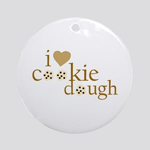 I Love Cookie Dough Ornament (Round)