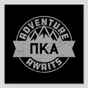 "Pi Kappa Alpha Adventure Square Car Magnet 3"" x 3"""