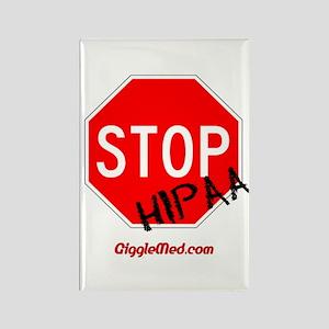 Stop HIPAA Rectangle Magnet