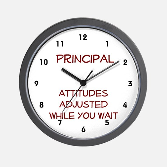 School Principal Wall Clock