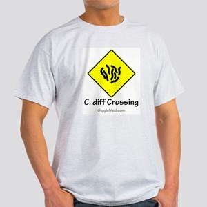 C. diff Crossing Sign 01 Light T-Shirt