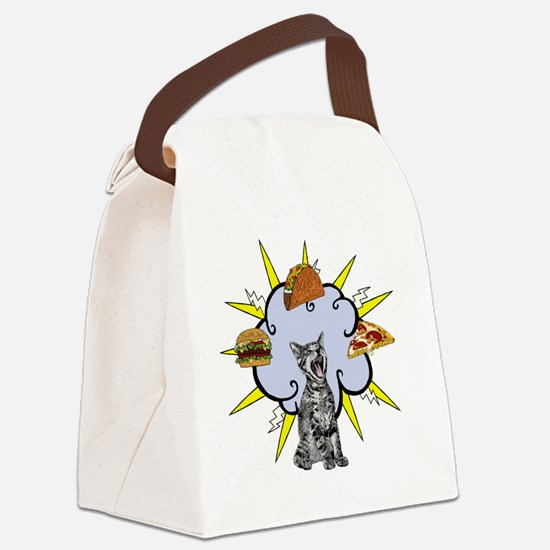 Cute Cat lunch Canvas Lunch Bag