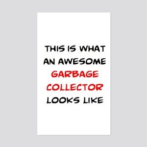 awesome garbage collector Sticker (Rectangle)