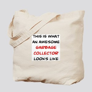 awesome garbage collector Tote Bag