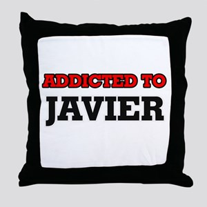 Addicted to Javier Throw Pillow