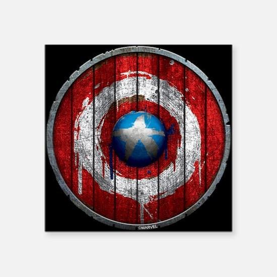 Captain America Anniversary Wooden Shield Sticker