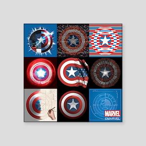 Captain America Anniversary Nine Shields Sticker