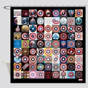 This Captain America 75th Shower Curtain