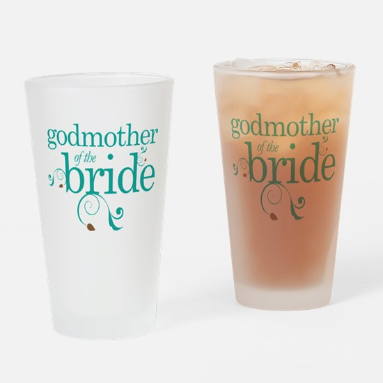 Godmother Of The Bride gift Drinking Glass