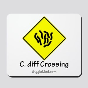 C. diff Crossing Sign 01 Mousepad