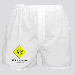C. diff Crossing Sign 01 Boxer Shorts