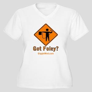 Foley Flagger Sign Women's Plus Size V-Neck T-Shir