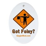 Foley Flagger Sign Oval Ornament
