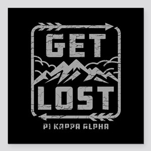 "Pi Kappa Alpha Lost Square Car Magnet 3"" x 3"""