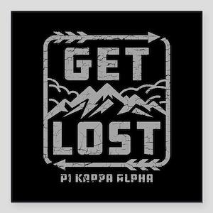 "Pi Kappa Alpha Lost Square Car Magnet 3"" x 3"""