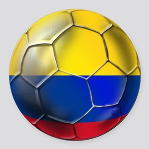 Colombia Soccer Ball Round Car Magnet