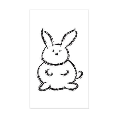 Bunny!! Rectangle Sticker