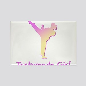 Taekwondo Girl 2 Rectangle Magnet