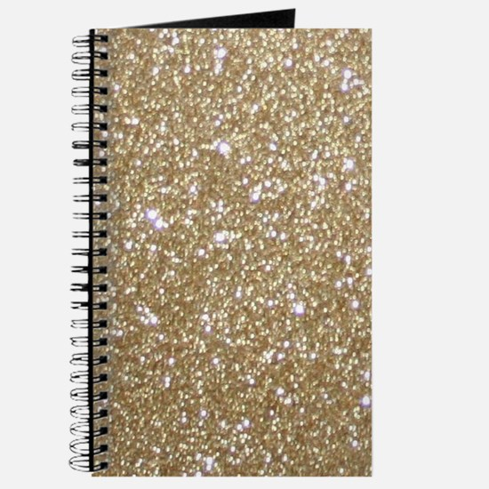 Girly Glam Gold Glitters Journal