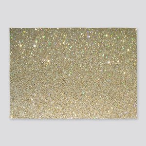 art deco gold glitter 5'x7'Area Rug