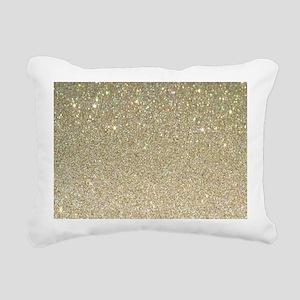 art deco gold glitter Rectangular Canvas Pillow