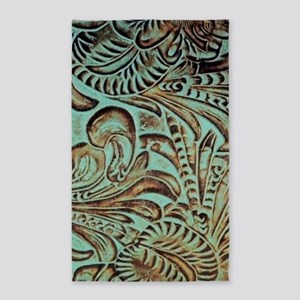 bohemian country western leather Area Rug