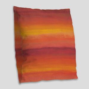 Arizona Sunset Burlap Throw Pillow