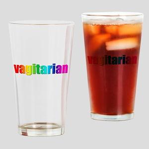 Vagitarian rainbow Drinking Glass