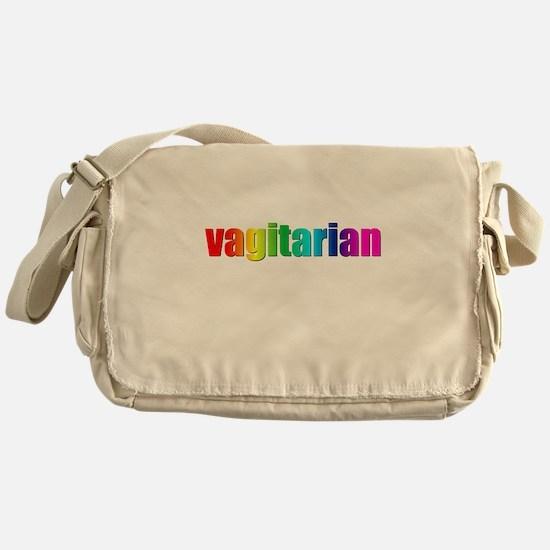 Vagitarian rainbow Messenger Bag