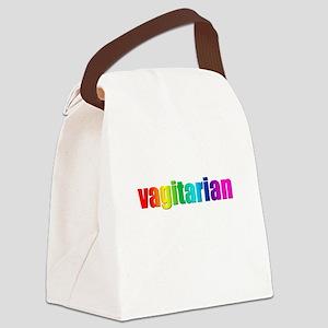 Vagitarian rainbow Canvas Lunch Bag