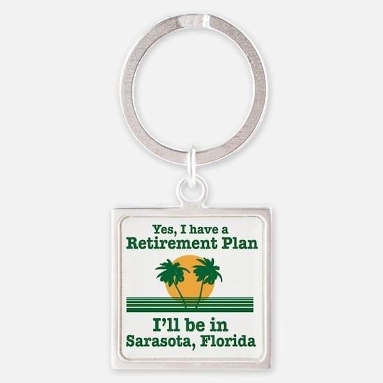 Cute Florida souvenirs Square Keychain