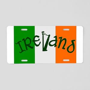 Irish Flag and Harp Aluminum License Plate