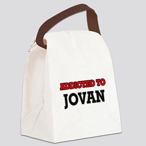 Addicted to Jovan Canvas Lunch Bag