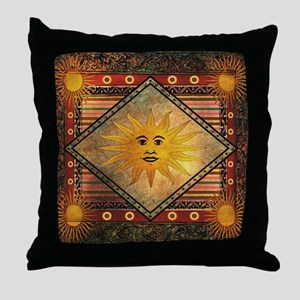 Vintage Midsummer Festival Throw Pillow