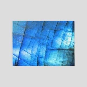 tribal bohemian marble turquoise 5'x7'Area Rug